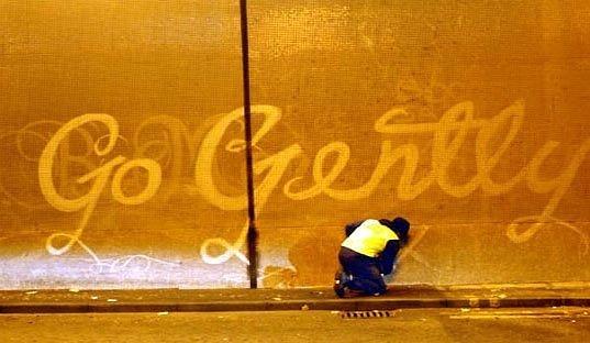 10_Reverse Graffiti on wall in UK