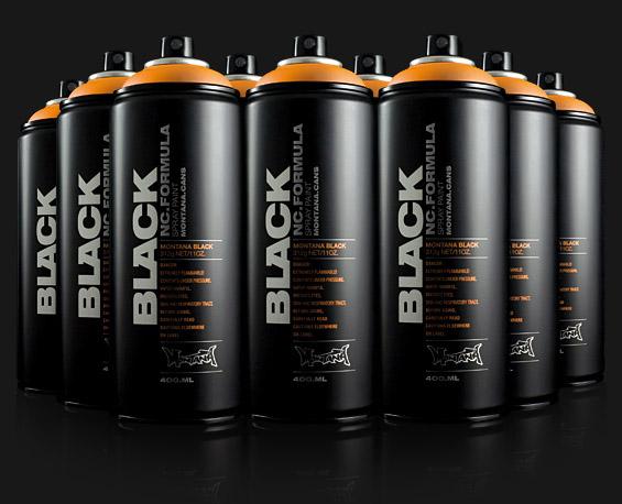 Montana Black Nc Formula Spray Paint
